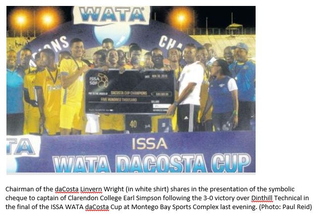 CC 2019 daCosta Cup Winner